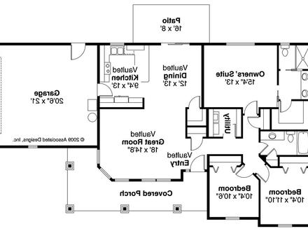 Modern bungalow floor plans one story bungalow floor plans for Robinson house plans