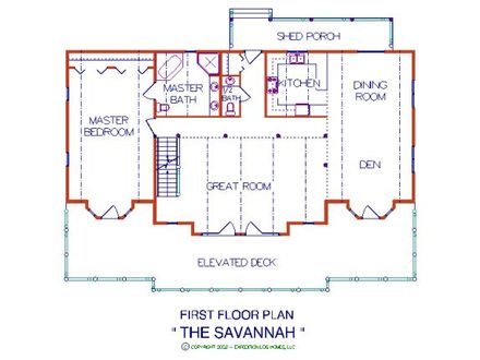 Savannah Log Home Floor Plans Greatwood Log Homes Floor Plans