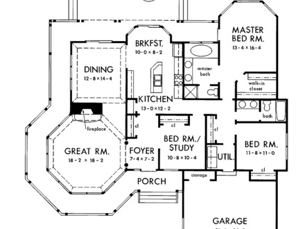 Single Floor House Plans with Open Design Single Story House Floor Plans