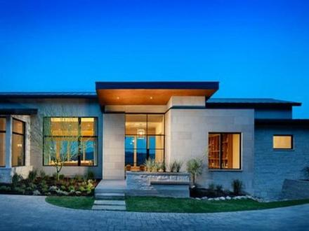 Single Story Contemporary House Single Story Modern House Design Plans