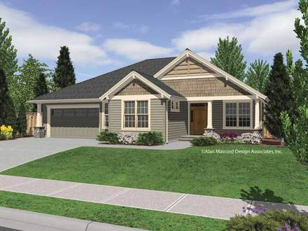 Single Story Craftsman Home Plans Craftsman Style House Plans