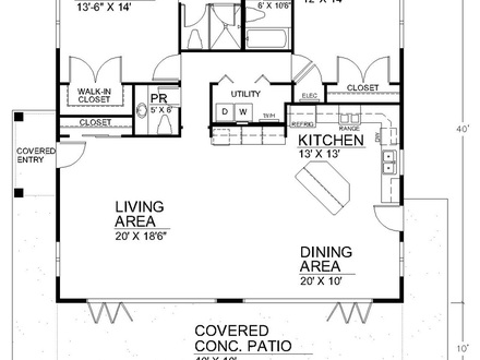House plans with no wasted space traditional house plans for 40x40 house plans