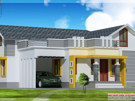 Single Story Stucco Houses Single Story Modern House Designs