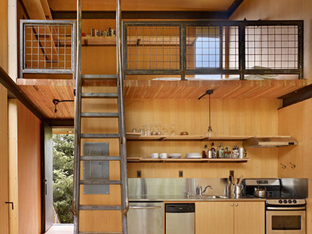 Small Cabin with Loft Interior Designs One Room Cabin with Loft