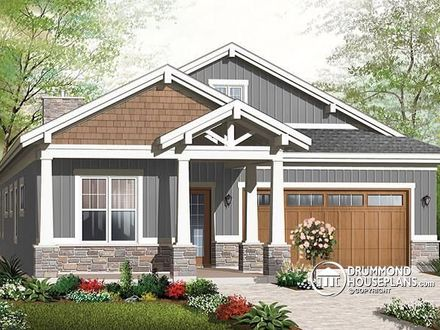 One story bungalow floor plans bungalow house plans uk for Small craftsman house plans with garage