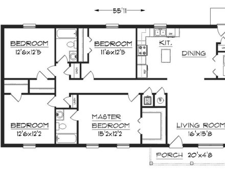 Small House Floor Plans Under 1000 Sq FT Simple Small House Floor Plans