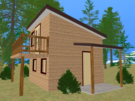 Small House Plans with Balconies Small House Plans with Open Floor Plan