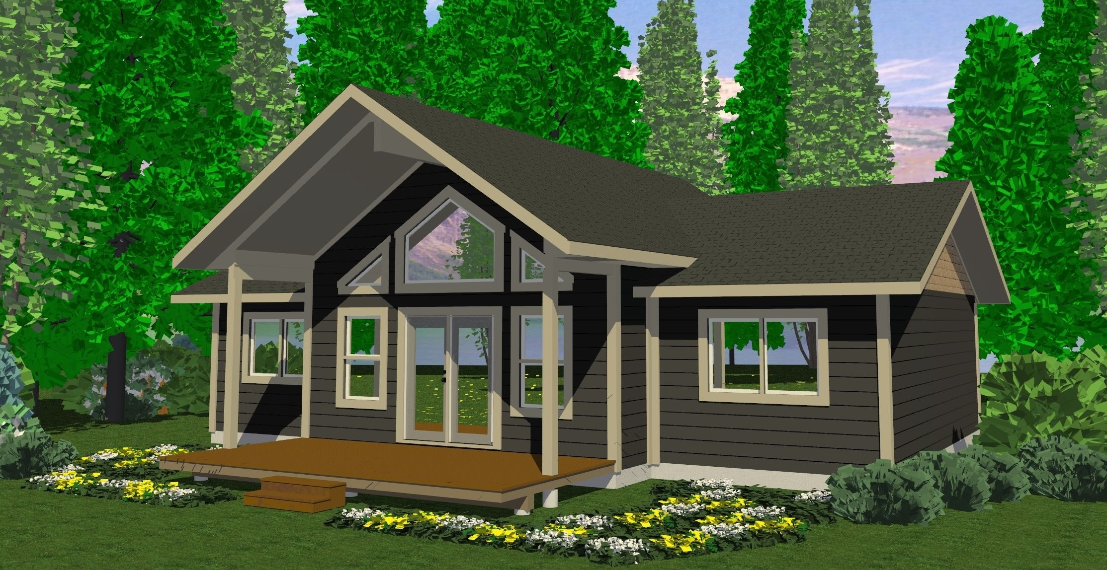 Small Modern Cabins Small Cabins and Cottages Plans, 3 ...