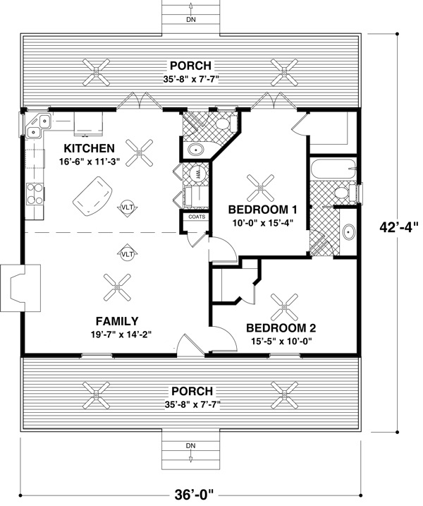 Small Ranch House Plans Small House Floor Plans Under 500 Sq FT