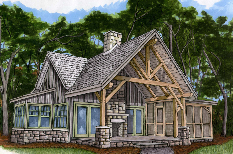 Small timber frame cottage plans beautiful small timber for Small timber frame cottage