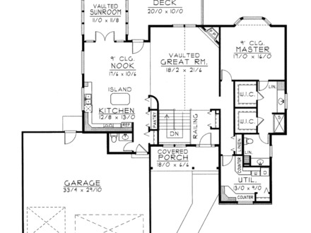 Waterfront house floor plans home plans with open floor for Waterfront house floor plans