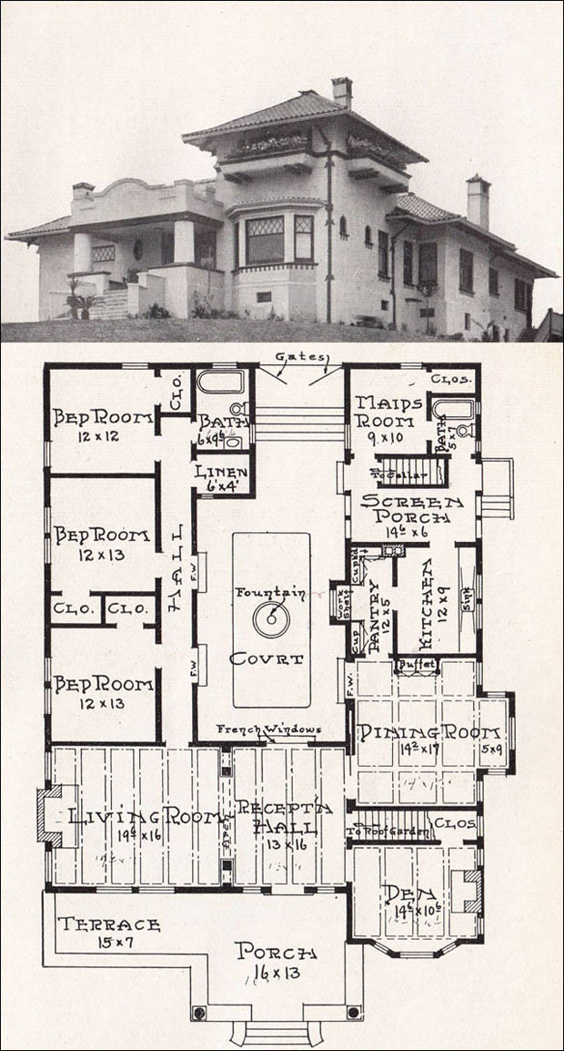 Spanish mission house plans mission style house plans for Spanish bungalow house plans