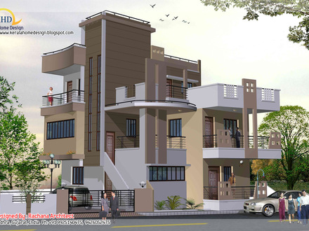 Three Story House Floor Plans and Designs 3 Storey House