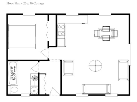 Tiny Romantic Cottage House Plan Cottage House Floor Plans