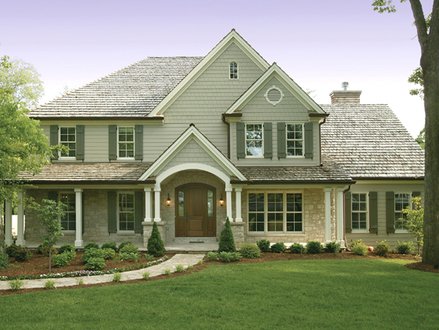Cape cod style home house home style craftsman house plans for Traditional house plans two story