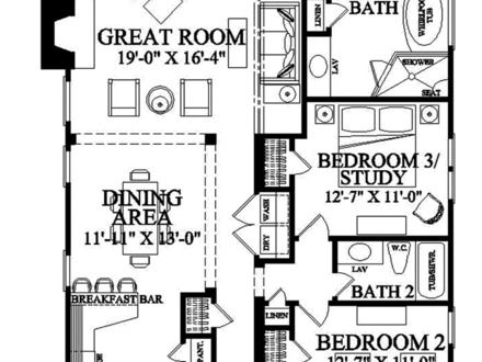 1 Bedroom House Plans 1 Bedroom Shotgun House Floor Plan Narrow Lot