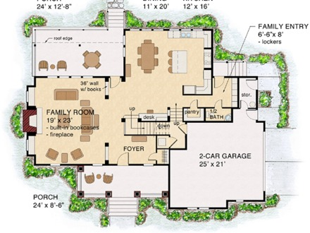 1920 Craftsman Bungalow Colors Bungalow Cottage Craftsman Traditional House Plan 74012 Level One