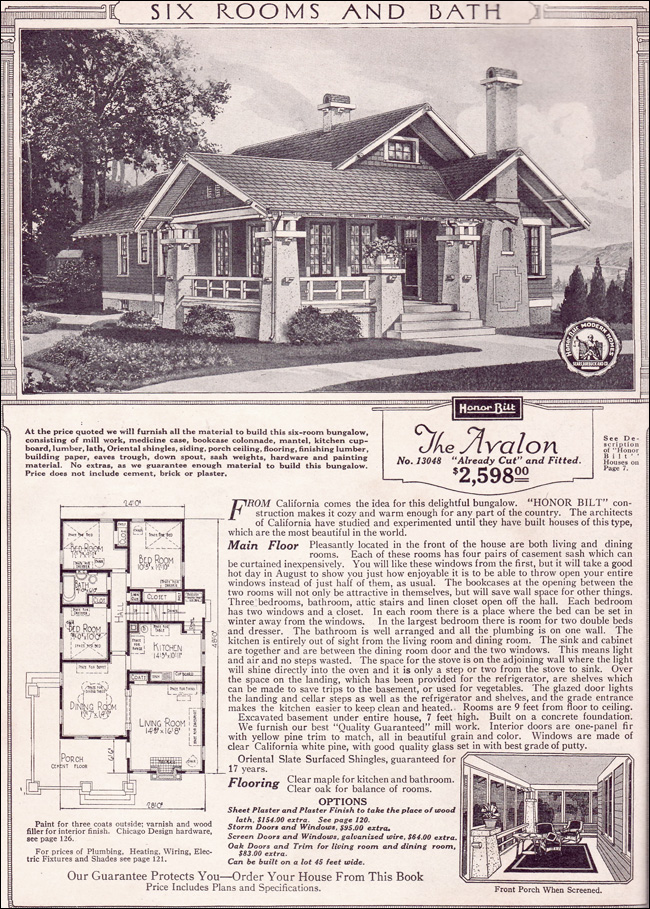 1920 sears home kits bungalows sears craftsman bungalow for California style house plans