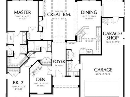 2 Bedroom Floor Plans 2 Bedroom House Floor Plan with Design