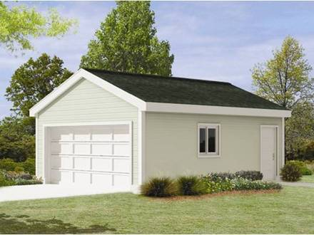 2 Car Garage with Loft Two Car Garage Plans