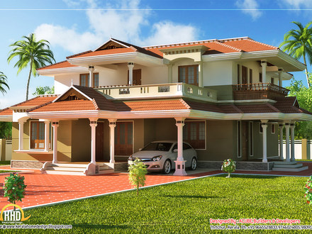 2 Story Beautiful House Kerala Style Nice 2 Story House