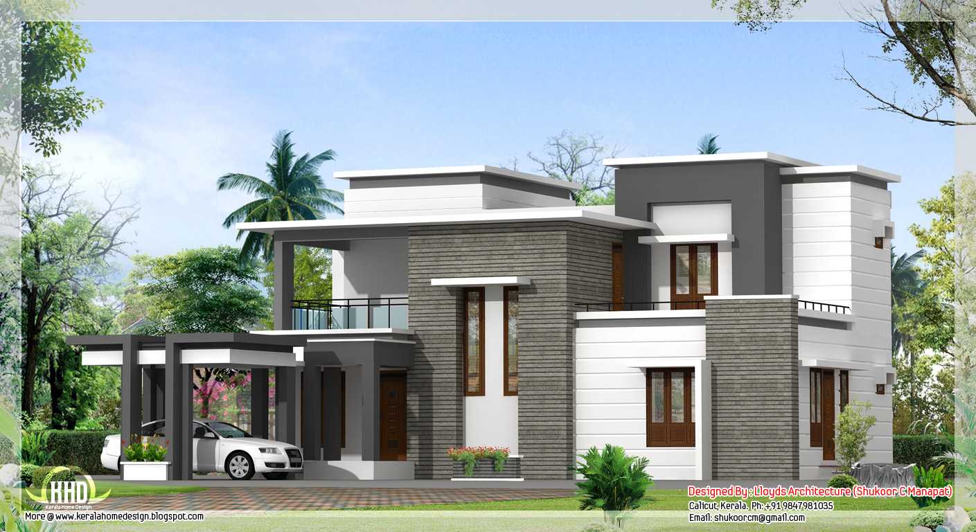 2000 Sq Feet Modern House Elevation Designs How Big Is ...