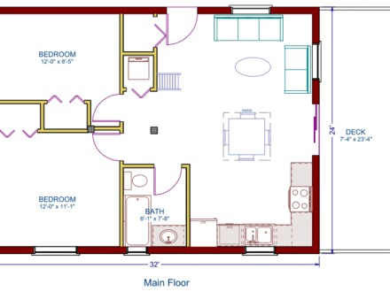 Simple house drawings architect drawing house plans for Simple cabin plans 24 by 24