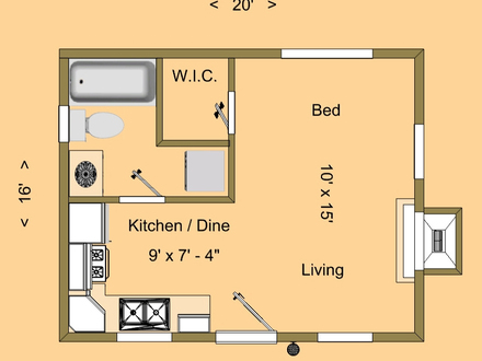 500 Square Foot House Floor Plans 600 Square Foot House
