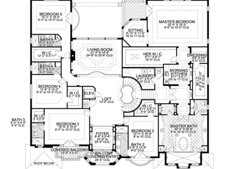 Luxury 7 Bedroom House Plans 9 Bedroom House 7 Bedroom