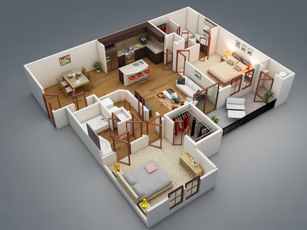 Apartment 2 Bedroom House Plans 2 Bedroom Apartment Floor Plan