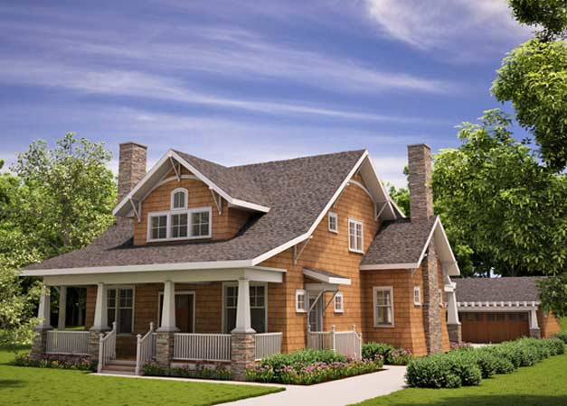 Arts and crafts bathrooms arts and crafts bungalow house for California bungalow vs craftsman