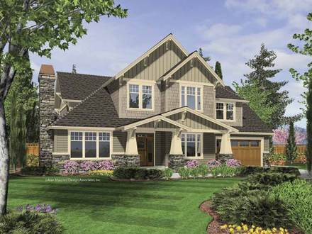 Arts and Crafts Mansion Arts and Craftsman Home Plans
