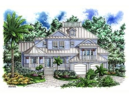House plans southern living cottage of the year house for Beach house plans pilings southern living