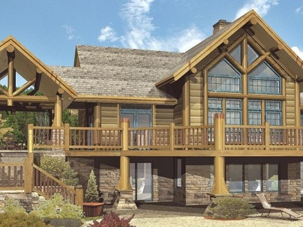 Custom log homes large log cabin homes large log home for Big log cabin homes