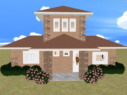 Brick Two-Story House Plans Small Two Story House