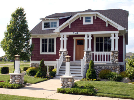 Bungalow style home Traditional Exterior grand rapids by California Bungalow Homes