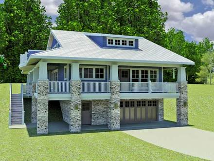 California Hillside House Plans Small Hillside Home Plans