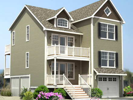 Traditional house plans coastal house plans narrow lots coastal houses - Coastal homes mobel ...