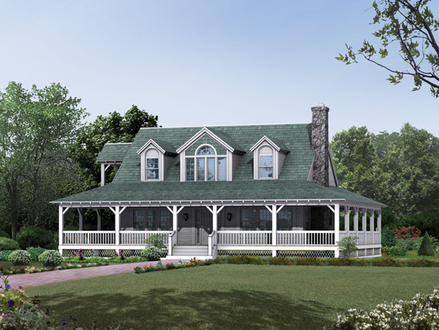 Country Farmhouse Plans with Porches One Story Farmhouse Plans