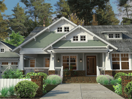 Craftsman Style House Plans with Porches Single Story Craftsman House Plans