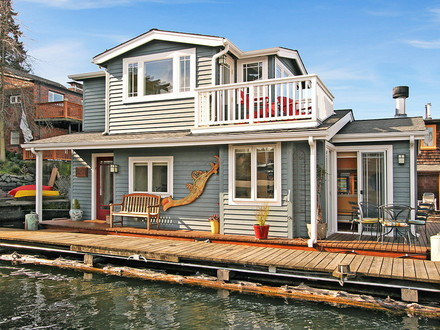 Craftsman style Portage Bay float house Small House Bliss Portage Bay Food