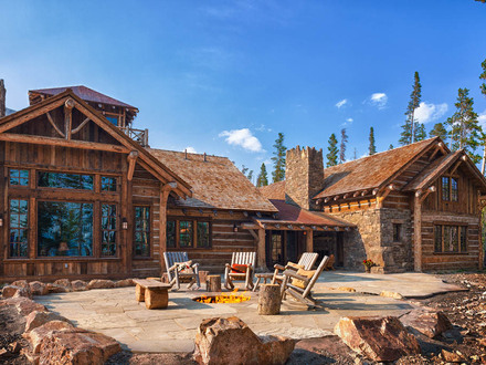 Custom Log Homes Large Log Cabin Homes