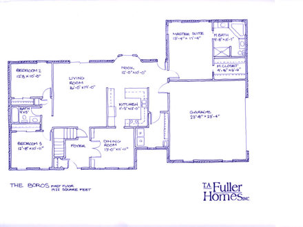 Floor Plan Clip Art One Level Floor Plans with Basement