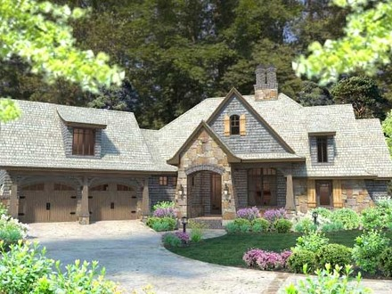 French Country Cottage House Plan Craftsman French Cottage Design
