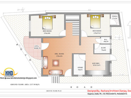 Home Design Indian Plan Ground Floor Kerala Home Plans with Estimate