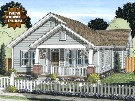Houseplans THE SUMMER COTTAGE 1 Story, Traditional House Plan Lake Cottage House Plans