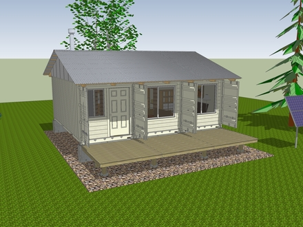 How to Build a Deck How to Build a Shipping Container Cabin