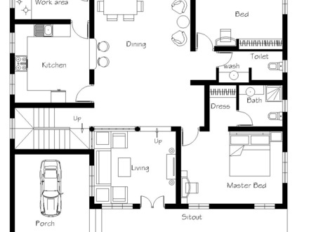 Kerala House Plans 1300 Sq FT House Plans Kerala Home Design