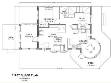 2 bedroom cottage floor plans 2 bedroom cabins cottage for New england country homes floor plans