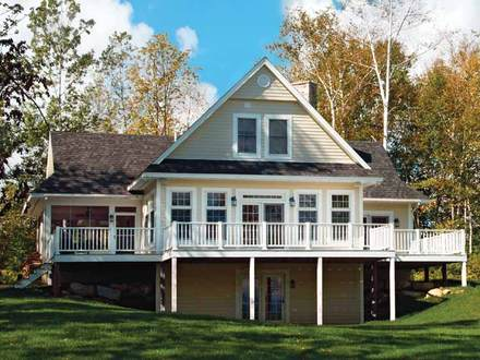 Lake House Plans with Rear View Lake House Plans with Basement